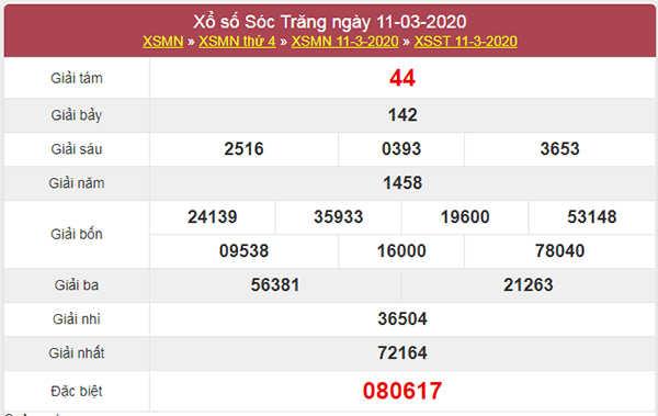 Dự đoán KQXS Sóc Trăng 18/3/2020 - Thống kê XSST hôm nay