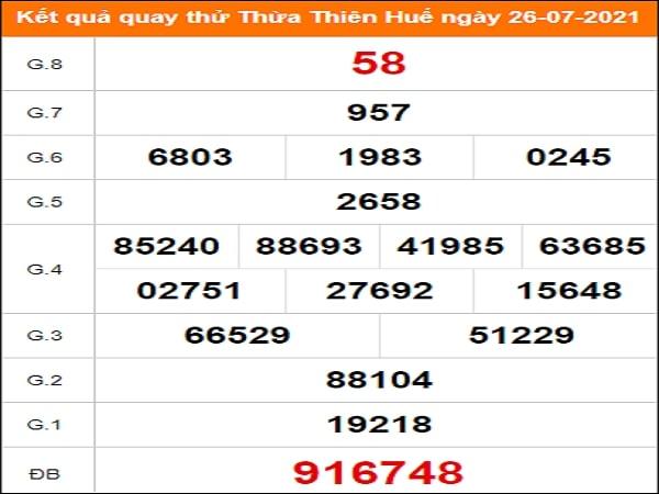 Quay thử Thừa Thiên Huế ngày 26/7/2021 thứ 2